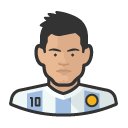 Avatar of footballers lionel messi