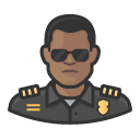 Avatar of police officer 2 black male