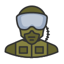 Avatar of pilot military soldier goggles
