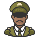 Avatar of military general black male