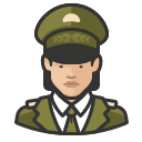 Avatar of military general asian female