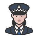 Avatar of police officer scotland yard caucasian woman