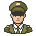 Avatar of military general asian male
