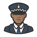 Avatar of police officer scotland yard african man