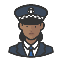 Avatar of police officer scotland yard african woman