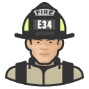 Avatar of firefighter asian male